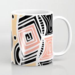 Four Waves - Black Orange Yellow Coffee Mug