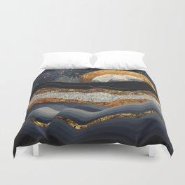 Metallic Mountains Duvet Cover