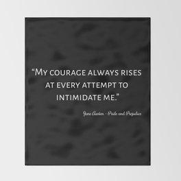 The Pride and Prejudice Quote I Throw Blanket