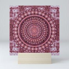 Boho Rosewood Mandala Mini Art Print