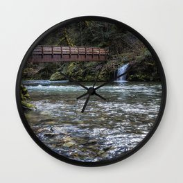 Bridge Over Hackleman Creek Wall Clock