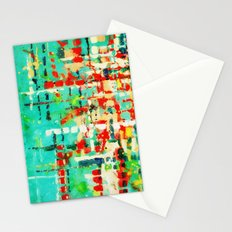 on my street -turquoise abstract Stationery Cards