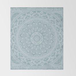 Mandala - Soft turquoise Throw Blanket