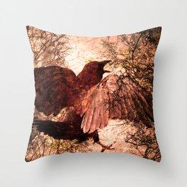 Crow Speach Throw Pillow