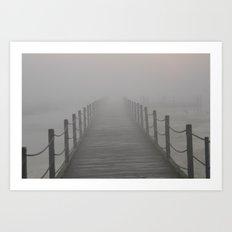 A Destination Lost In The Fog Art Print