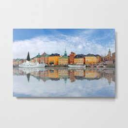 A Panorama of Gamla Stan in Stockholm, Sweden Metal Print