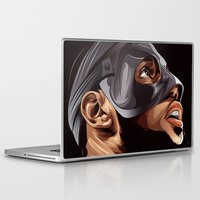lebron Laptop & iPad Skins featuring THE KING by THEMAD3