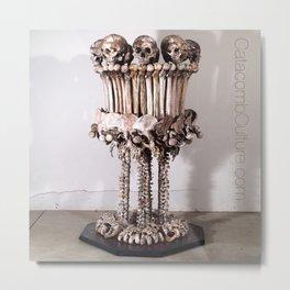 Catacomb Culture - Skull and Bone Lamp Metal Print