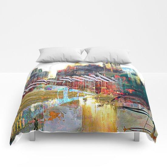 City landscape Comforters