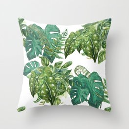A Pattern of Plants Throw Pillow