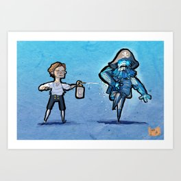 Use Verb on Noun #31: The Secret of Monkey Island Art Print