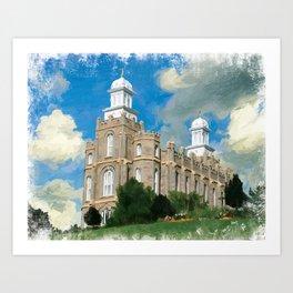 Logan Utah LDS Temple Art Print