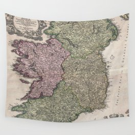 Vintage Map of Ireland (1716)  Wall Tapestry