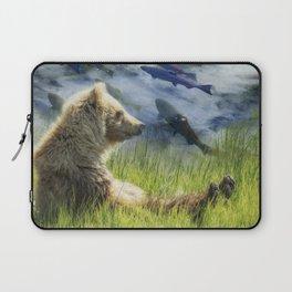 A Little Bear Dreams of Sweet Tomorrows Laptop Sleeve
