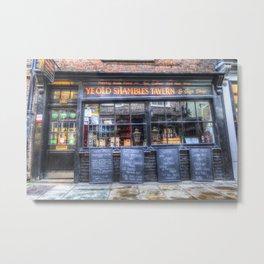 Ye Old Shambles Tavern York Metal Print