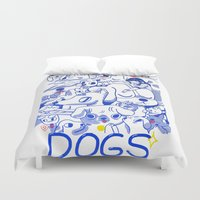 dogs Duvet Covers featuring Dogs✧ by Natali Koromoto