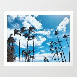 Kona Winds & Kailua Palms Art Print