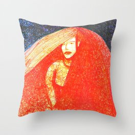 Red Bride Throw Pillow