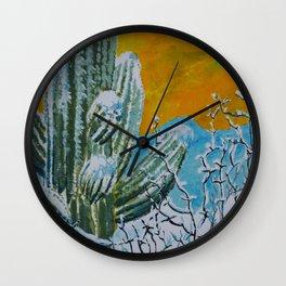 Snowy Desert Wall Clock