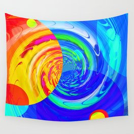 Re-Created Twisters No. 11 by Robert S. Lee Wall Tapestry