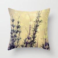 fireflies Throw Pillows featuring Fireflies by Kanelov