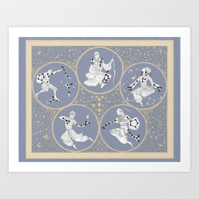 Amino Acid Horoscope - Overlay Art Print