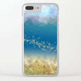 Abstract Seascape 02 wc Clear iPhone Case