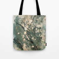 snow Tote Bags featuring Snow  by Peter Coleman