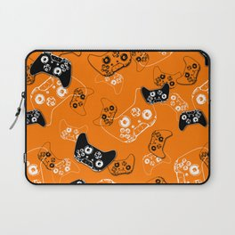 Video Game Orange Laptop Sleeve