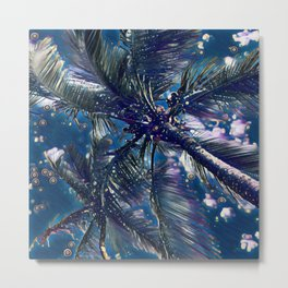Coconut Tree Graphic Art Design | Digital Art | Painting Metal Print