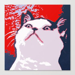 Obey the Cat Canvas Print