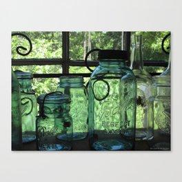 Perfect ~ Vintage Mason Jars Canvas Print
