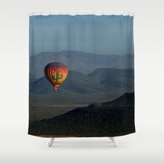 Hot Air Balloon over Arizona Morning Shower Curtain