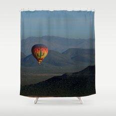Hot Air Balloon over Arizona Morning Shower Curtain