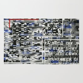 Activating the Intended and Unforeseen (P/D3 Glitch Collage Studies) Rug