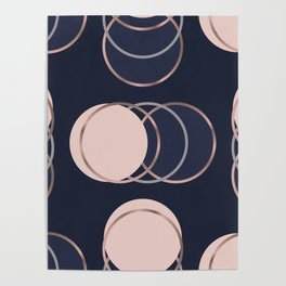 Abstract luxury Circle pattern Poster
