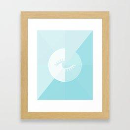 LOOK AT ME BLUE Framed Art Print