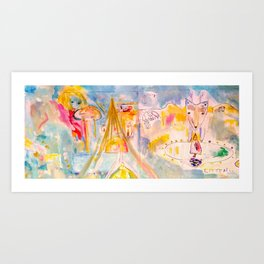 Listening and a trip to Vision Island Art Print