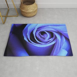Blue Rose Close Up Rug
