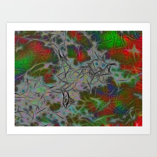 Green Nebula Art Print