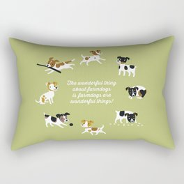 Farmdogs are wonderful things Rectangular Pillow