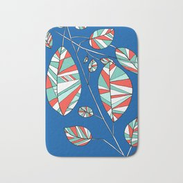 Colorful Tree Branch Drawing by Emma Freeman Designs Bath Mat