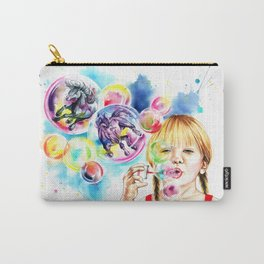 The bubble unicorns Carry-All Pouch