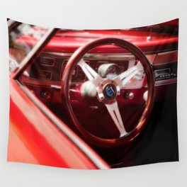Red Ride Wall Tapestry