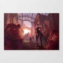 NieR: Automata - Welcome to the Amusement Park Canvas Print