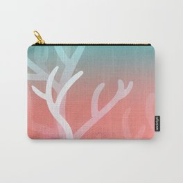 Living coral & Viridian green Carry-All Pouch