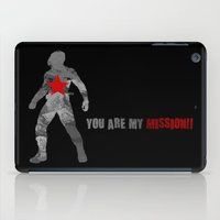 bucky barnes iPad Cases featuring Winter Soldier (Bucky Barnes) by MajesticSeahawk Designs