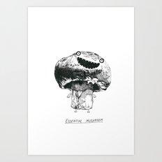 Essential Mushroom Art Print