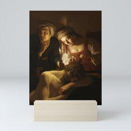 Samson and Delilah - By Gerrit van Honthorst Mini Art Print