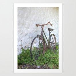 Old time bicycle, Ireland Art Print